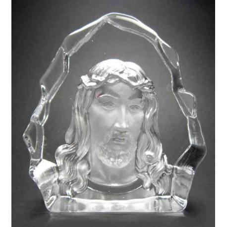 Jesus ornament i glas