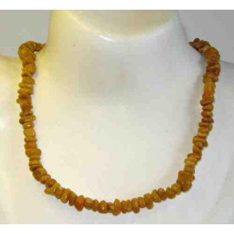Jaspis, gul halskæde