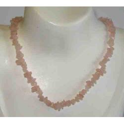 Rosakvarts halskæde