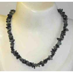 Obsidian snefnug halskæde