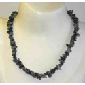 Obsidian snefnug luksus halskæde