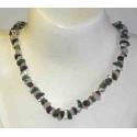 Luksus halskæde med sten mix, b
