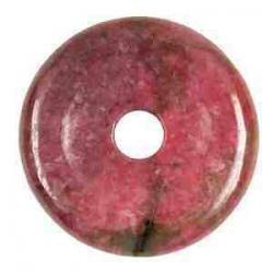 Rhodonit donuts 40 mm.