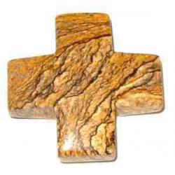 Jaspis Landskab kors vedhæng