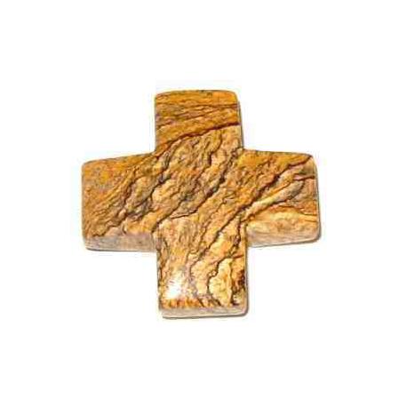 Landskab Jaspis kors vedhæng