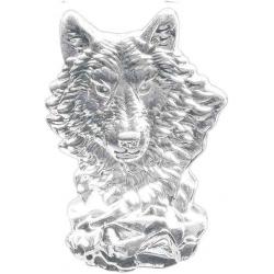 Stort Ulve hoved i glas