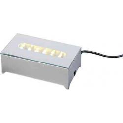 LED lys base med 12 dioder i hvidt lys