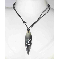 Talisman necklace with Yin Yang