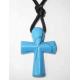 Farvet howlit kors halskæde