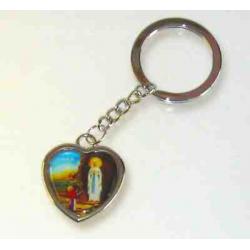 Religiøs hjerte nøglering, Maria og Bernadette