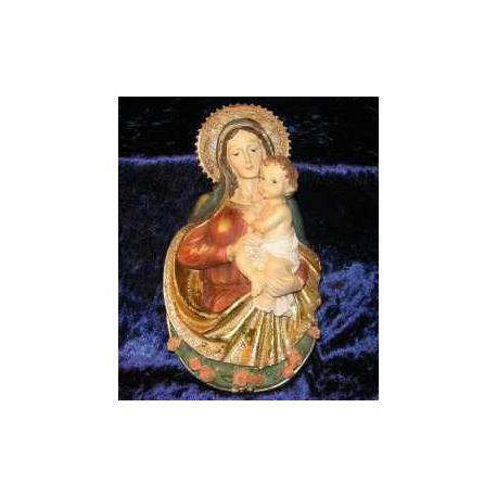 Madonna med barn, 23 cm.