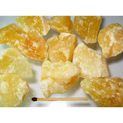 Orange Calcit, rå