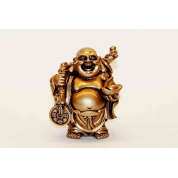 Happy Buddha i polyresin