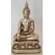 Buddha 10 cm. Forsølvet