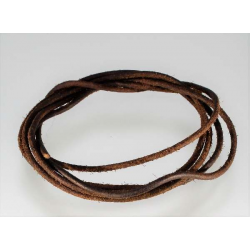 2 m.m. brun Lædersnøre