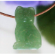 Grøn aventurin kat vædhæng