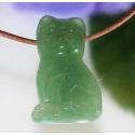Grøn aventurin katte vedhæng