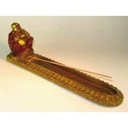 Happy Buddha røgelsesholder