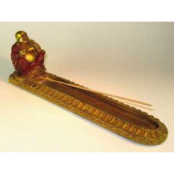 Røgelseholder Happy Buddha