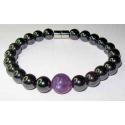 Magnetterapi armbånd med ametyst perle