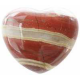 Hjerte 45 mm. Jaspis, stribet