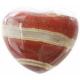 Jaspis, stribet hjerte 45 mm.