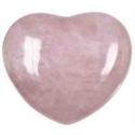 Rosakvarts hjerte 45 mm.