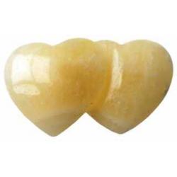 Par hjerter Orange Calcit