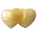 Calcit, orange dobbelt hjerte