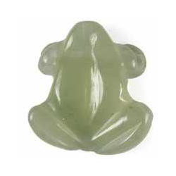 Frø vedhæng i Grøn Jade