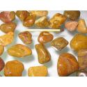 Jaspis gul/gulbrun lommesten