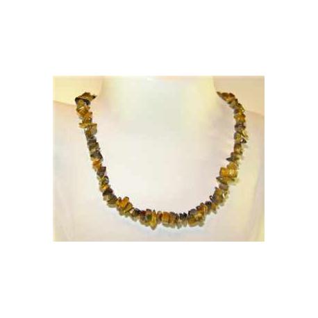 Tigerøje halskæde