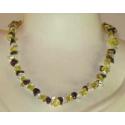 Luksus halskæde med sten mix, a