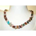 Luksus halskæde med sten mix, c