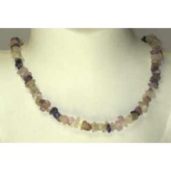 Fluorit, regnbue halskæde