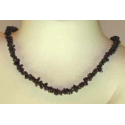 Granat luksus halskæde