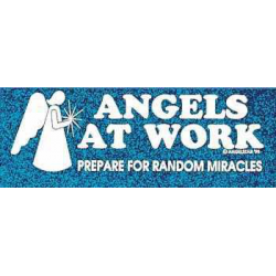 Bumper sticker Angels at work