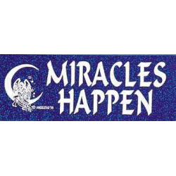 Bumper sticker Miracles Harppen