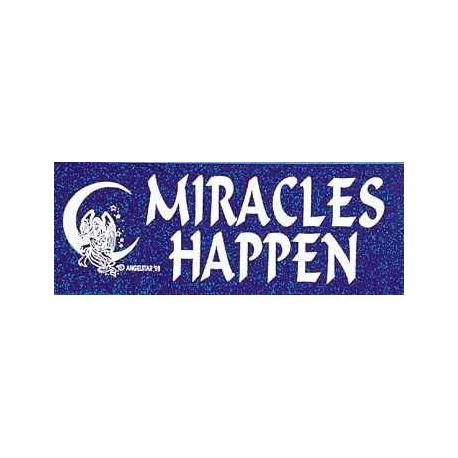 Bumper sticker Miracles Harppen