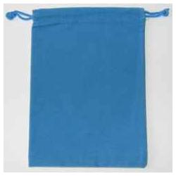 blå Velour pose 12 x 17 cm.
