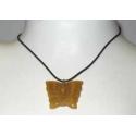 Jade Gul sommerfugl halskæde