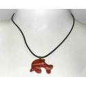 Rød Jaspis delfin halskæde