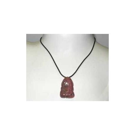 Rhodonit frø halskæde