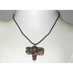 Halskæde med Leopard jaspis guldsmed