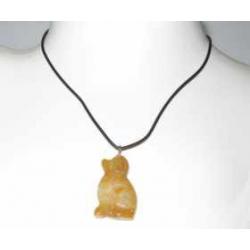 Jade Gul hund halskæde