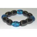 Magnetterapi armbånd med blå perler
