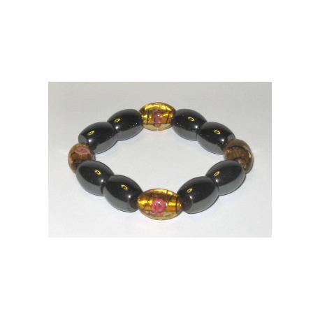 Magnetarmbånd med gyldne perler