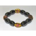 Magnetterapi armbånd + gyldne perler