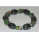 Magnetarmbånd med grønlige perler