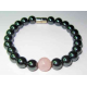 Magnetarmbånd med rosakvarts perle